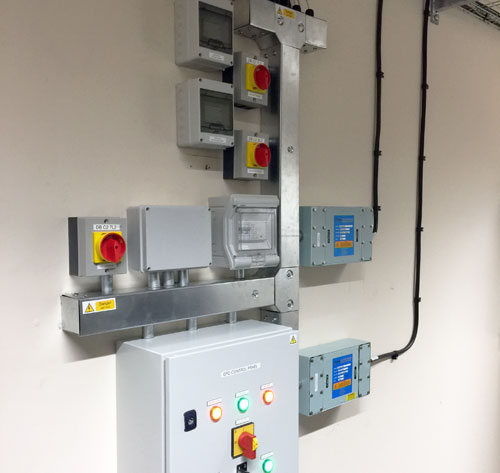 Photo of a neat electrical containment installation by SIS Digital Networks