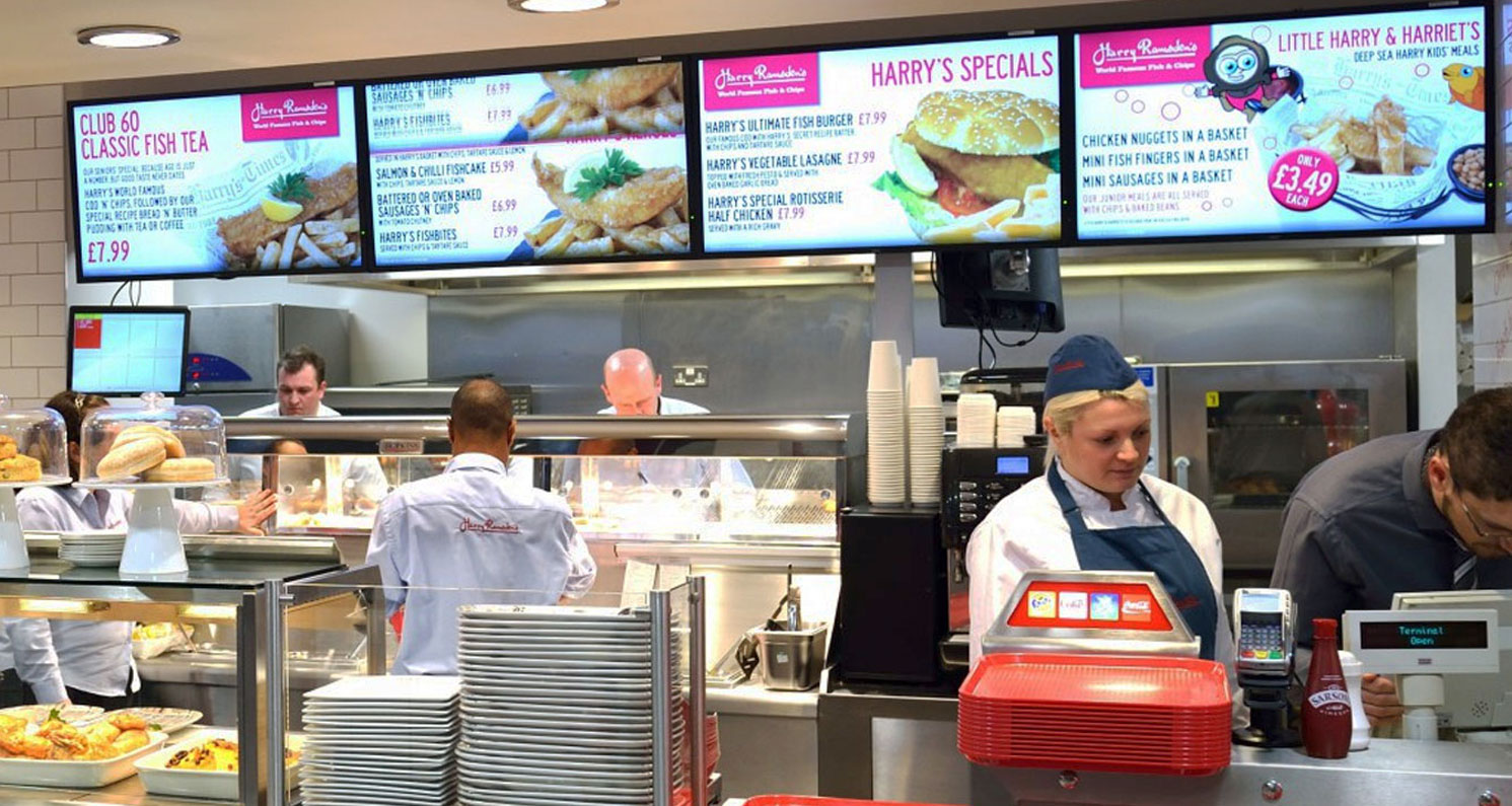Harry Ramsden's moves to digital menu boards