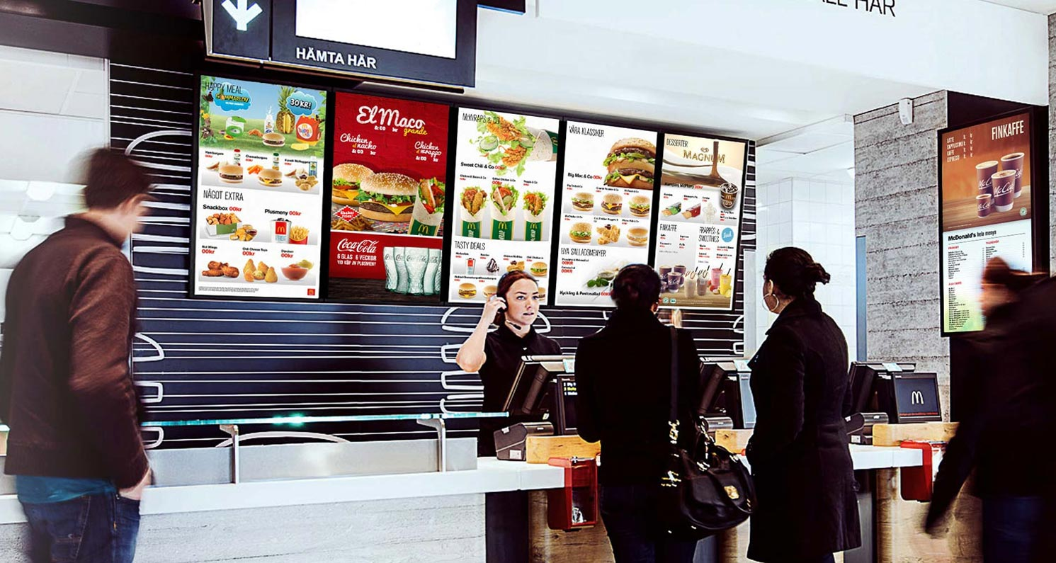Five ways digital menu boards can improve your restaurant