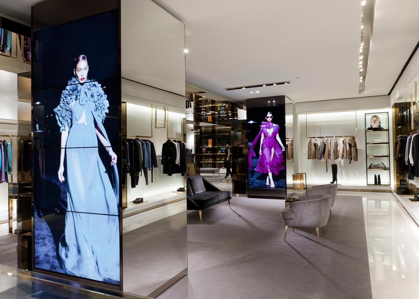 Video Walls In Retail Store